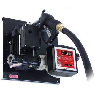 E 72-BS/Z Betankungsset mit Zählwerk K33 230 V; für Diesel und Biodiesel (RME), auf Platte montiert