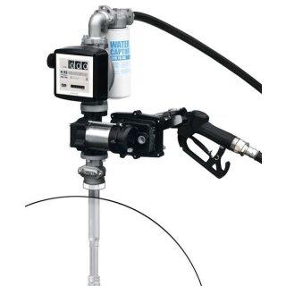 Fasspumpe Diesel/Benzin/Kerosin EX50 AC 230V ATEX; mit automat. Zapfpistole und Zählwerk K33 ATEX