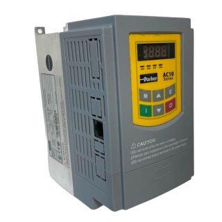 Parker AC10 Frequenzumrichter 2,2 kW mit Filter, 1-phasig, 230 V / 21 A
