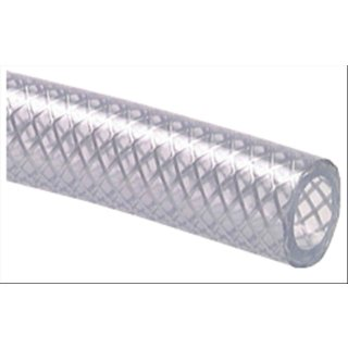 PVC-Gewebeschlauch 10 x 16 mm, transparent 5 Meter Stück