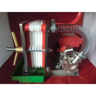 Abfüllanlage Filter und Pumpe Wein Saft  INOX 18