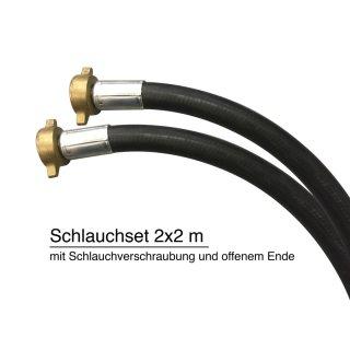 """Schlauchset 2 x2 Meter Gummi-Schlauch 19 mm 3/4""""; ölfest, für BOMA 2001-A"""